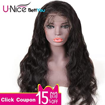 UNice Hair Bettyou Series Body Wave Lace Front Human Hair Wigs for Women Virgin Brazilian Human