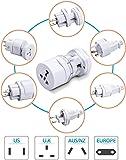 eErlik International Travel Adapter All in One (US,AUS,NZ,Europe,UK)
