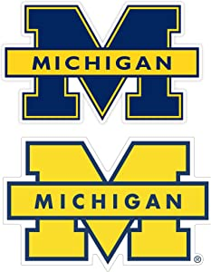 University of Michigan Vinyl Stickers //Any-Size//Football Michigan Wolverines Vinyl deacl for Car Bumper Truck Laptop Window Team Logo NCAA