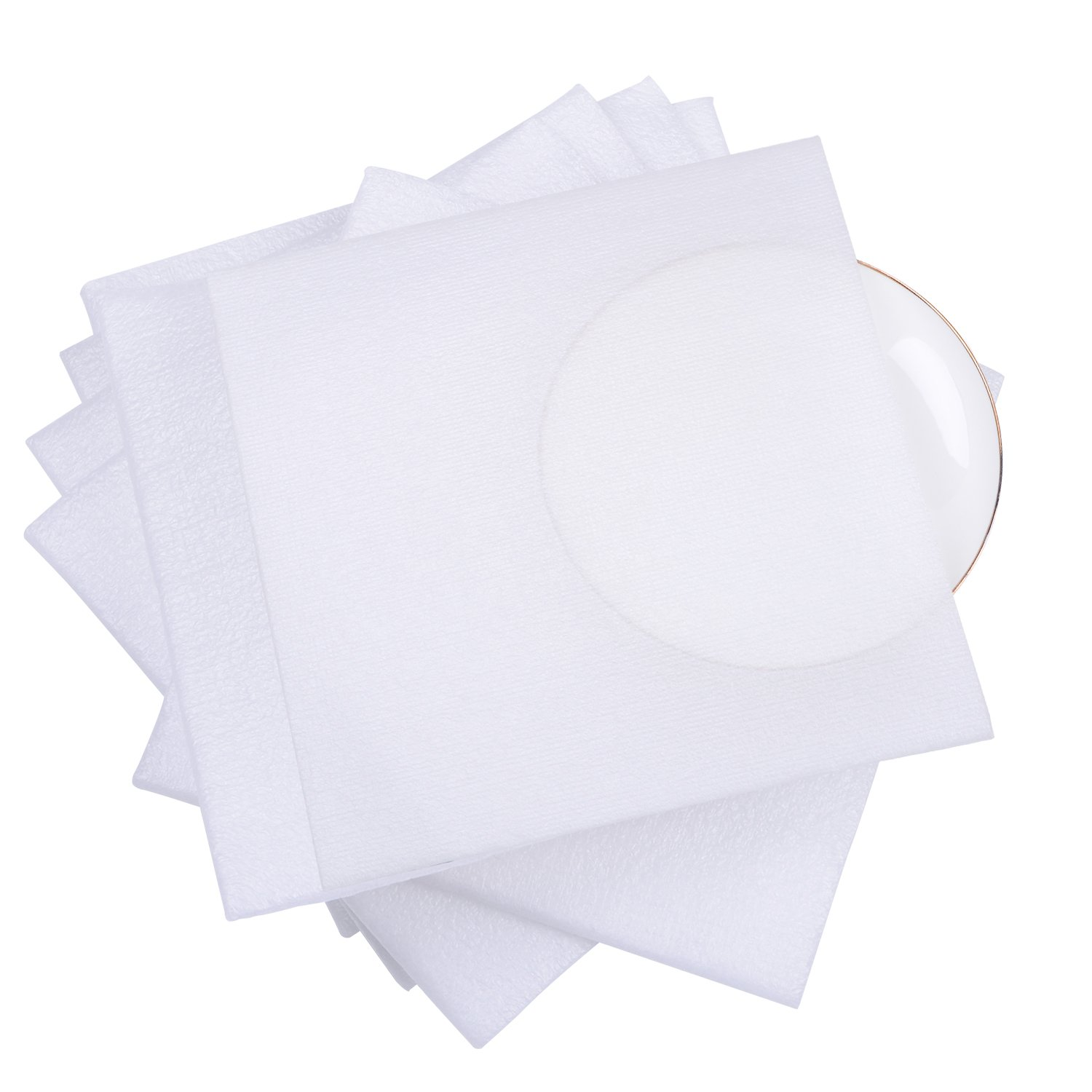 """1/4"""" Super Thick Foam Wrap Cup Pouches 7 1/2"""" x 7 1/2"""" (30 Count), Cushion Pouches to Protect Dishes, Glasses, Porcelain & Fragile Items, Packing Supplies for Moving"""