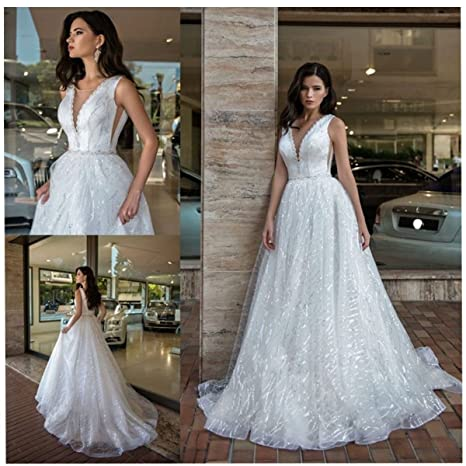 8749585e8ad7 Molixin White Plus Prom Dresses Ball Gowns Double Shoulder Wedding Dresses  Bridal Gowns Bling Beading Sweet 16 Dresses at Amazon Women's Clothing  store: