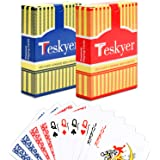 Teskyer Plastic Playing Cards, 100% Waterproof Playing Cards, Poker Cards, Decks of Cards
