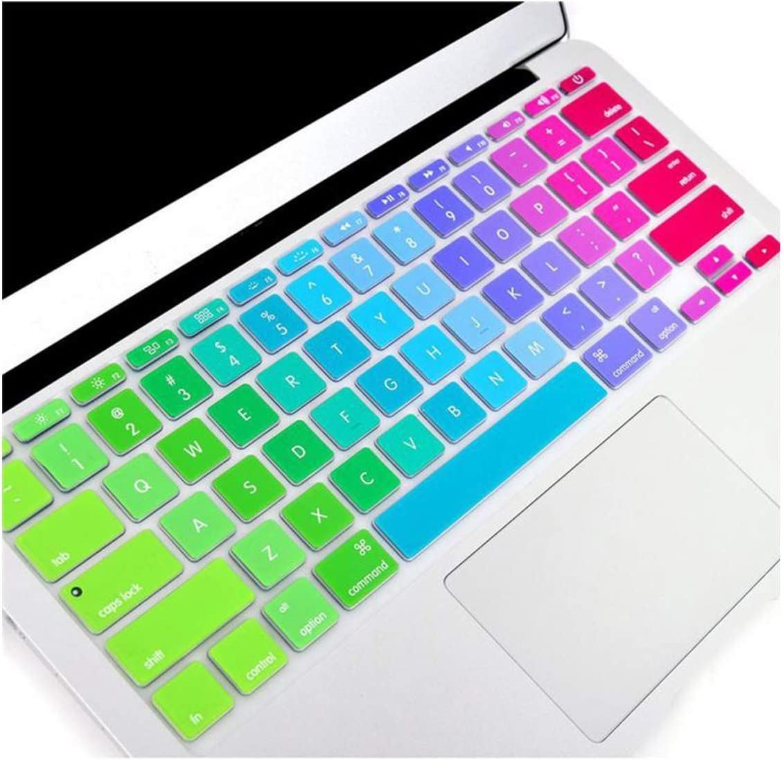 for MacBook Pro 13 15 Inch Air 13 Retina 13 US Silicone Keypad Skin Protector Flower Rainbow Keyboard Cover