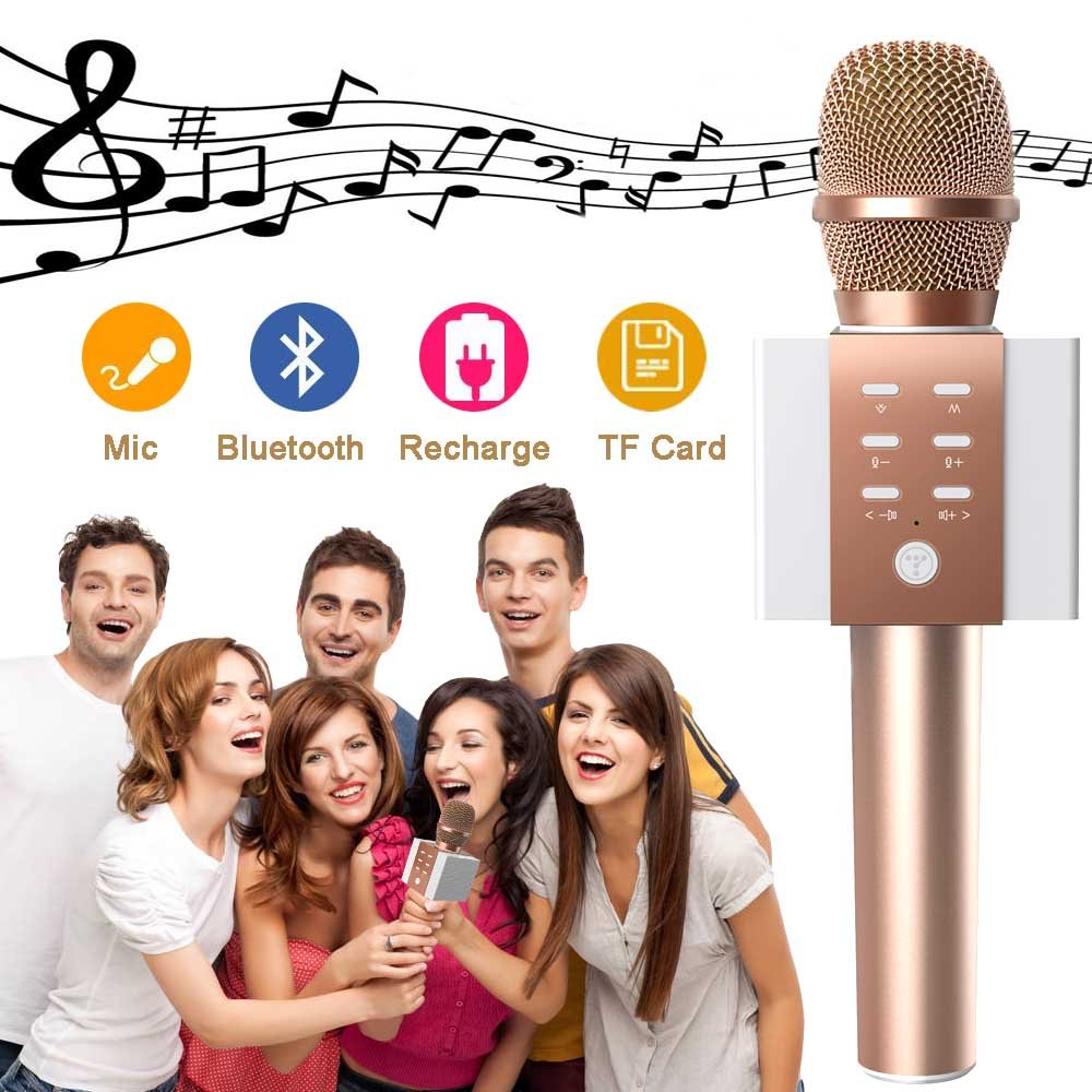 Wireless Karaoke Microphone for Kids Teenagers Girls Adults, Portable Bluetooth Karaoke Singing Mic Machine with Speaker, Superior Stereo Sound, Best Birthday Gifts for Kids Age 5 Years Old and Plus by TOSING (Image #2)