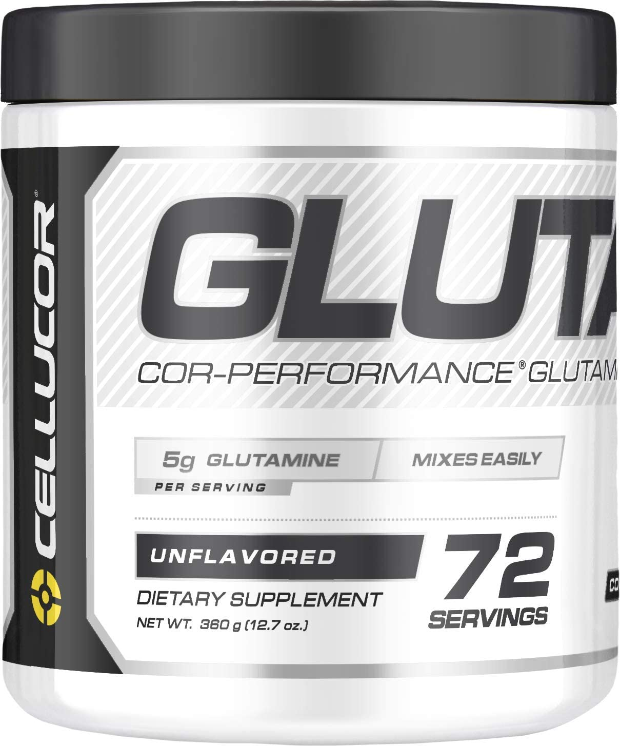 Cellucor Glutamine Powder, Post Workout Recovery with Glutamine Supplement, Cor-Performance Series, Unflavored, 72 Servings