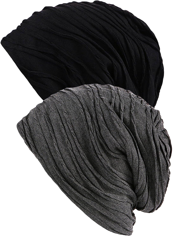 American Trends HAT レディース B075JBC8V6  2 Pack Black Grey One Size