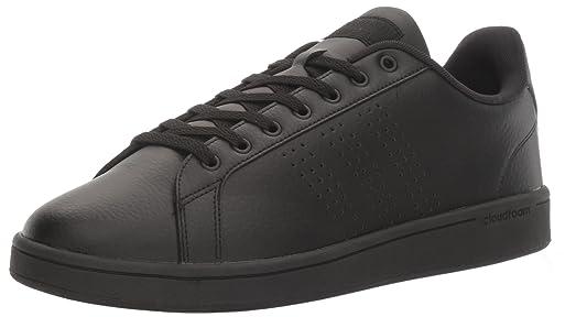 adidas Men's Shoes | Cloudfoam Advantage Clean Sneakers, Black/Black/White,  (