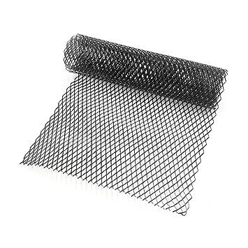 Lanlan 10x20mm Car Grill Grille Vent Mesh Aluminum Alloy Front Bumper  Rhombic Grill Mesh Sheet black