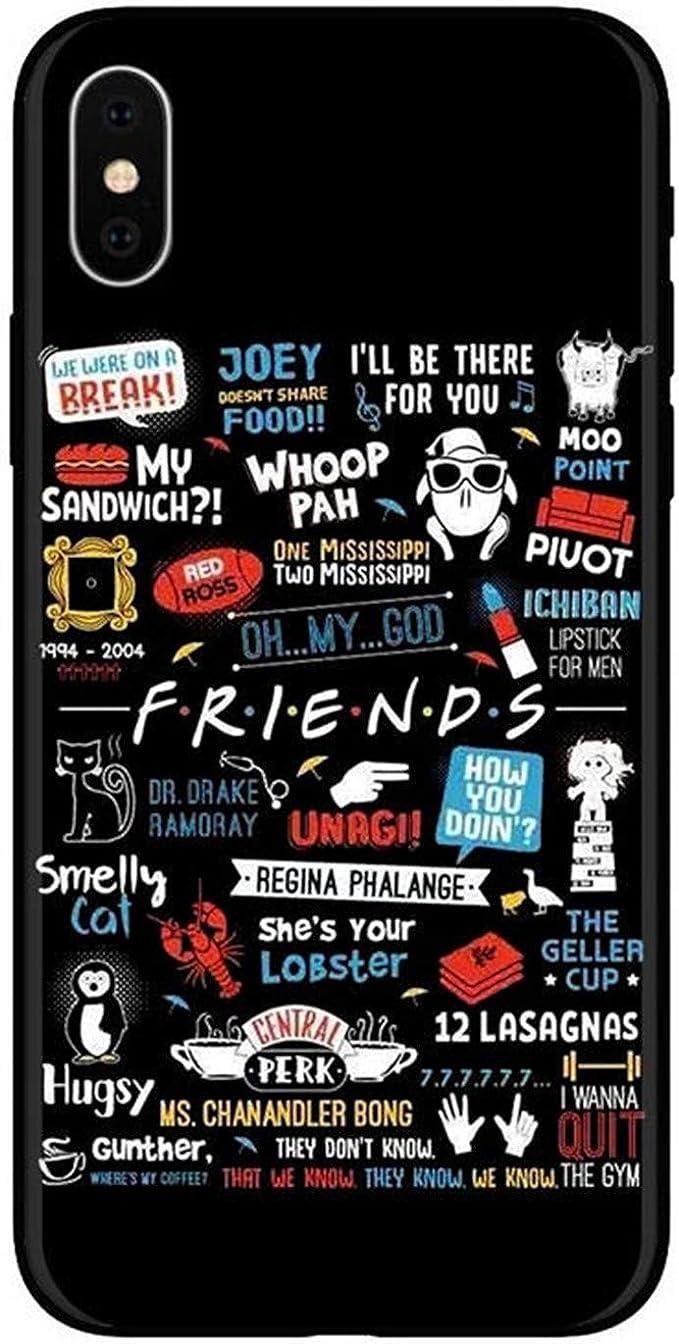 Friends TV Show How You Doin Coque en Silicone pour iPhone Noir ...