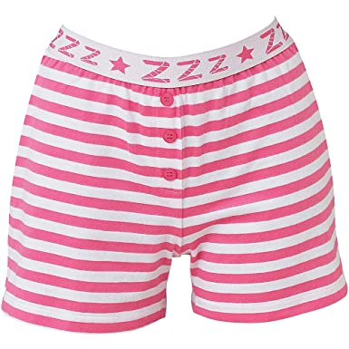 Love To Sleep Striped Soft Jersey Women s Loungewear Pyjama Shorts - Pink  Stripe - Size 16 26a961575