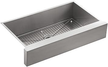 KOHLER K-3943-NA Vault Undercounter Single Basin Stainless Steel Sink with  Shortened Apron