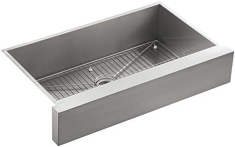 KOHLER K 3943 NA Vault Undercounter Single Basin Stainless Steel Sink With  Shortened Apron