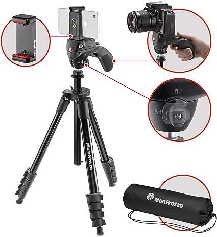Manfrotto MKCOMPACTACN-BK tripode Digitales/cámaras de película 3 ...