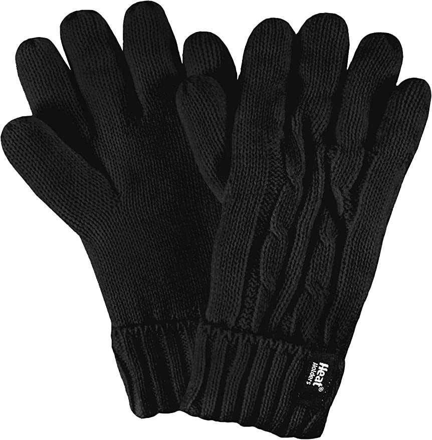 1 Pair Mens GENUINE Heat Holders Heatweaver Thermal GLOVES  TOG 2.3 Burgundy S//M