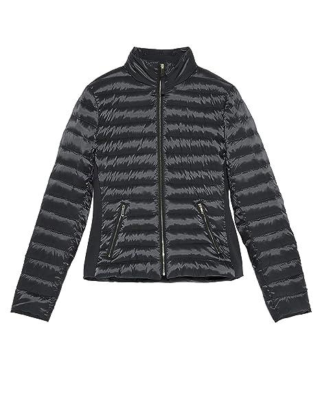 47a21fd0fc97 Zara Women s Contrast Down Puffer Jacket 0518 041 Grey  Amazon.co.uk ...