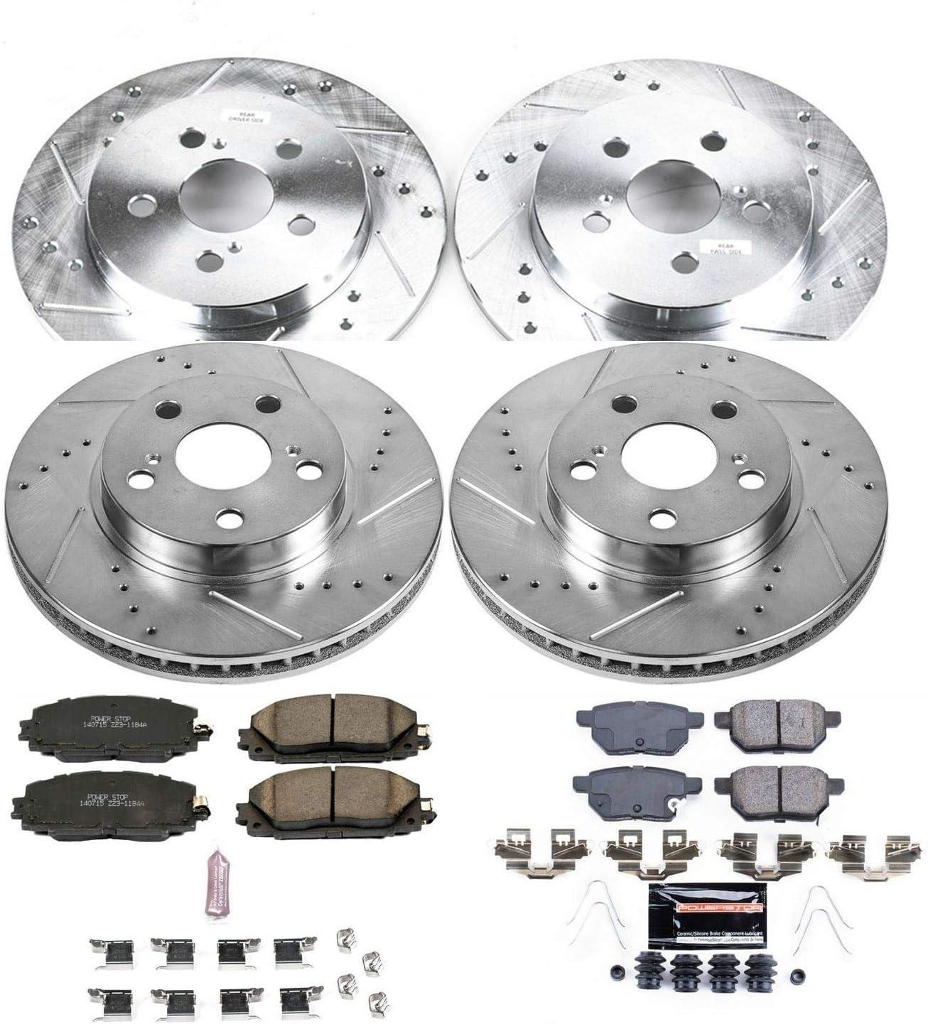 Power Stop K5871 Front /& Rear Z23 Evolution/Sport Brake Upgrade Kit