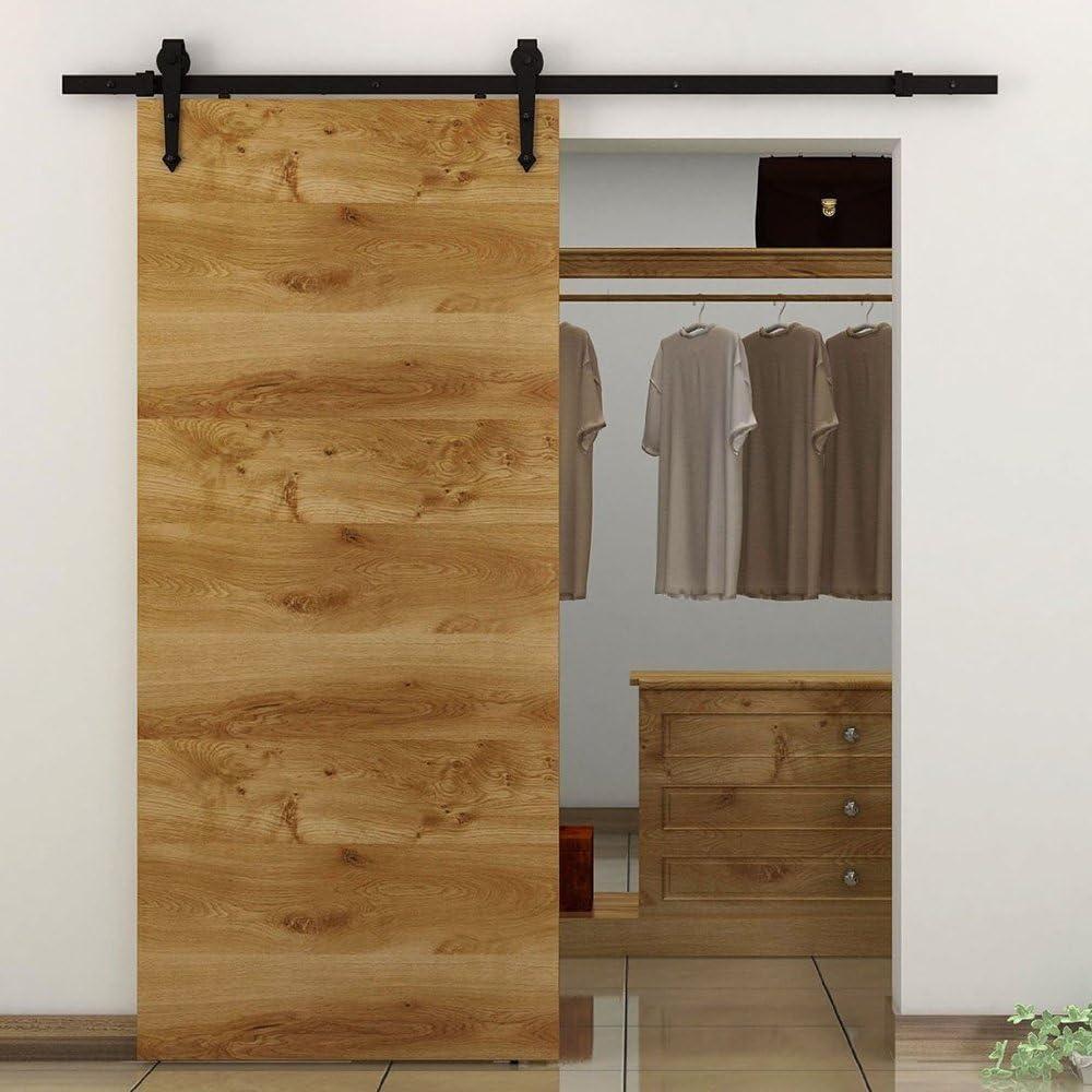Homgrace 6FT-183cm Kit de puerta corrediza, Rails, puerta ...