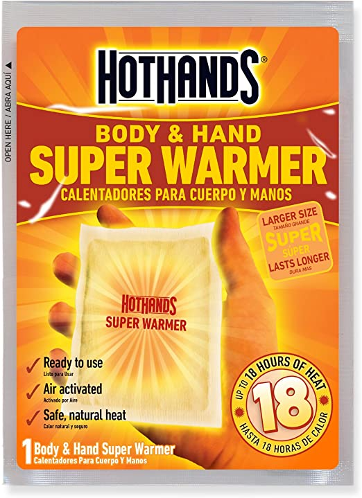 Hand and Body Warmer Super HotHands Warmers 40 Count Pack Hot 18 Hours Heat NEW