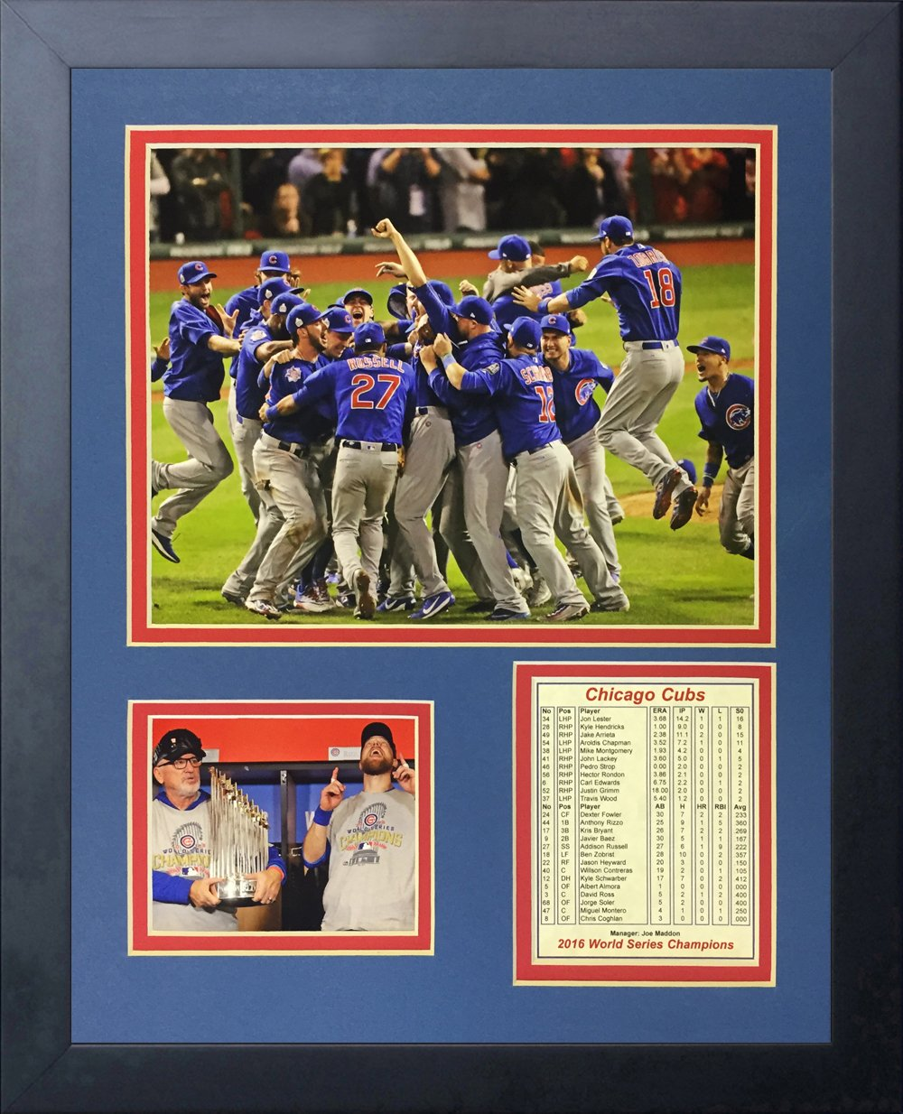 Legends Never Die 2016 MLB Chicago Cubs World Series Champions Celebration Framed Photo Collage, 11'' x 14'' by Legends Never Die