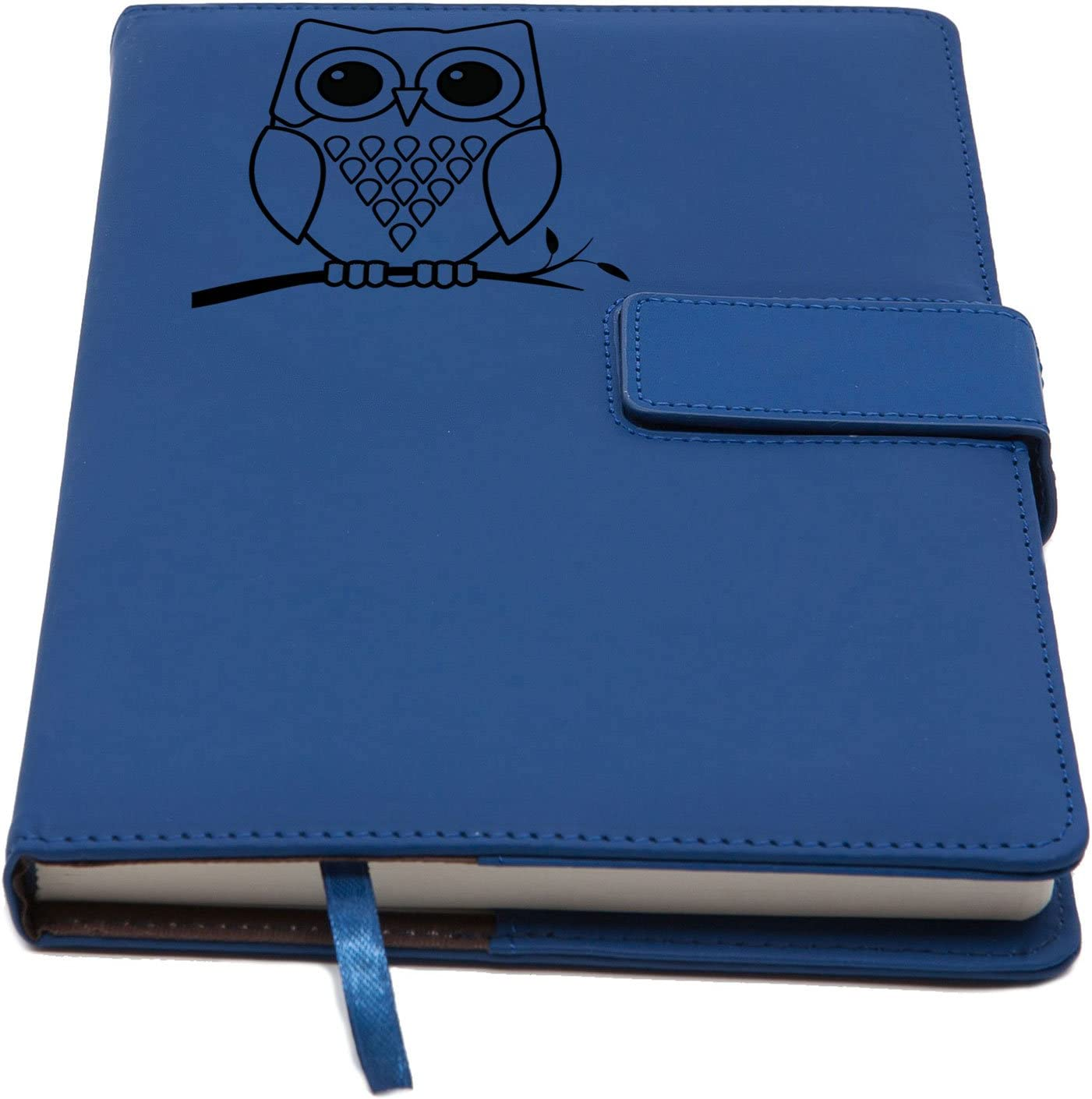 The Owl Refillable Writing Journal | Magnetic Faux Leather Journal, 5 x 8 Inch, 200 Lined Pages Travel Personal Diary, Quality Notebooks and Journals for Men and Women from The Amazing Office