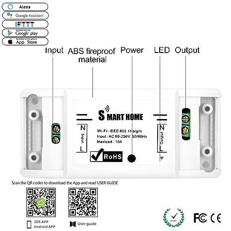 AOUVIK Smart Home WiFi Fernbedienung Drahtlos Strom: Amazon.de ...