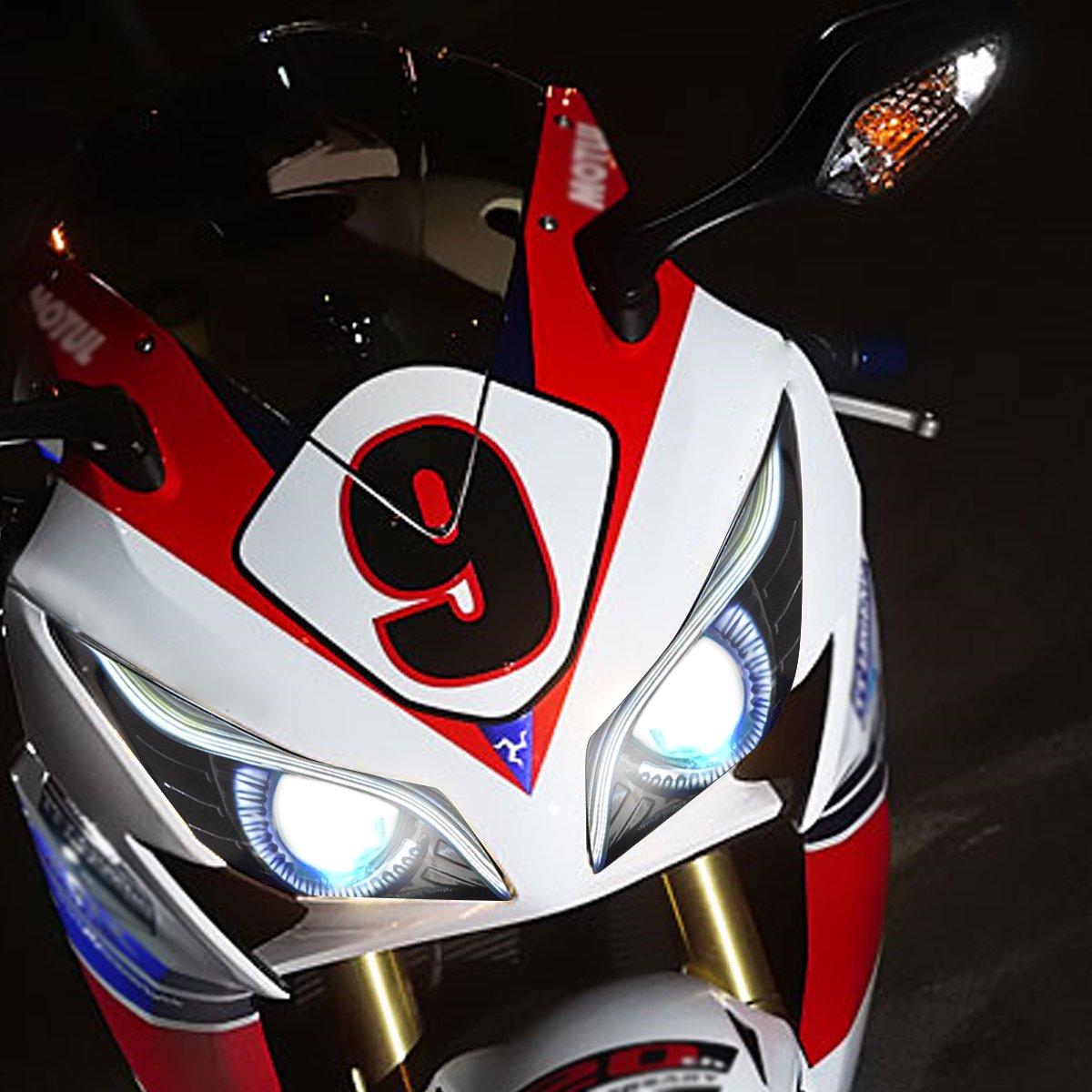 Kt Eagle Eye Led Drl Headlight Assembly For Honda Cbr Relays Wiring Diagram Cbr1000rr 2012 2016 V2 Red Demon Automotive