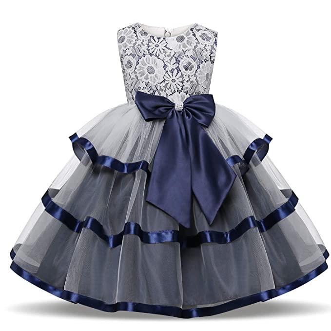 83acfb52237ba TTYAOVO Girls Lace Applique Dress Birthday Wedding Party Princess Prom  Dresses