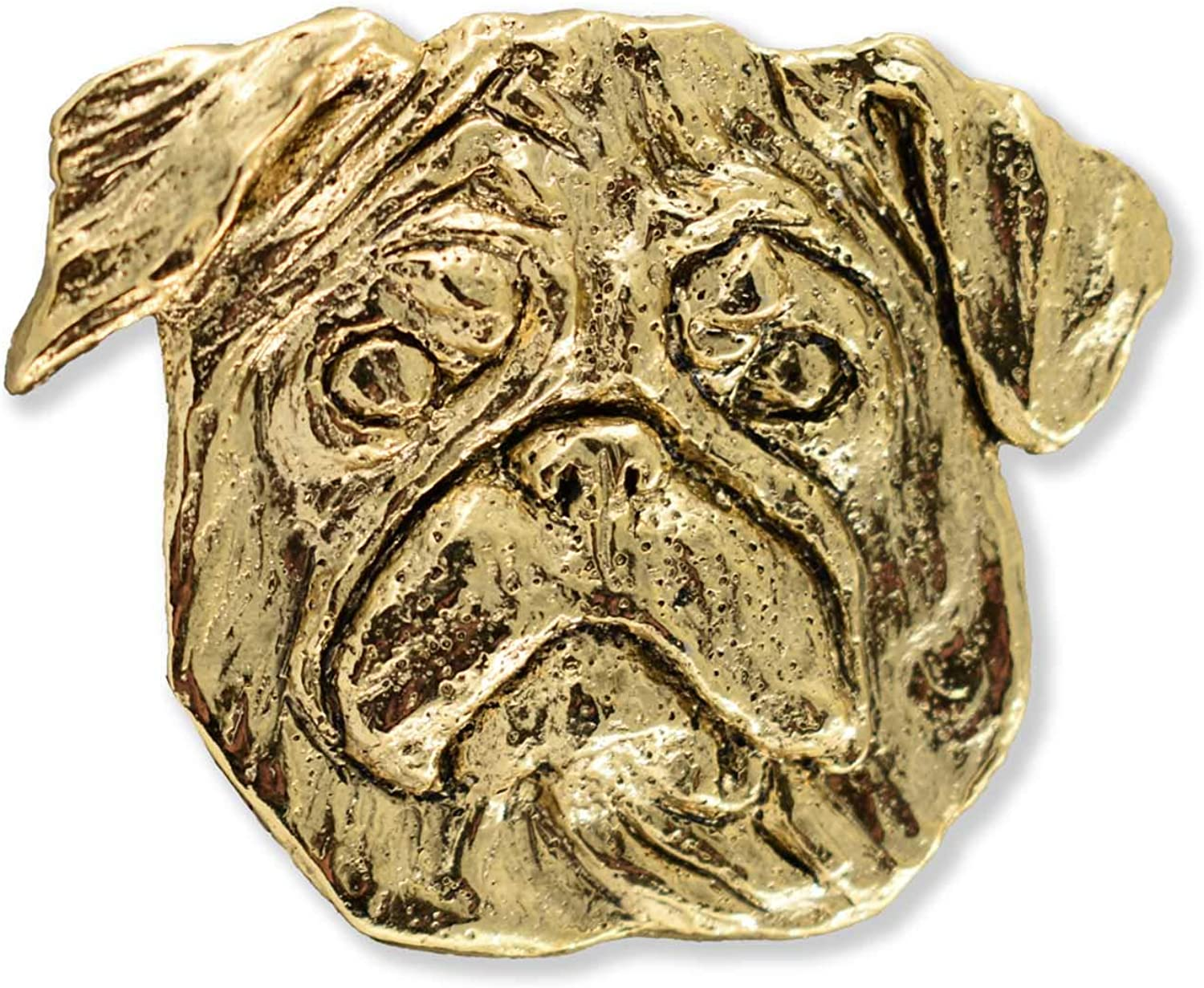 All Pet Breeds Made in USA Realistic Dog Lapel Pin Brooch Lead Free Antique Pewter
