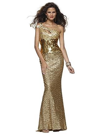 Clarisse One-Shoulder Prom Dress 2117, Oscar Gold, 2