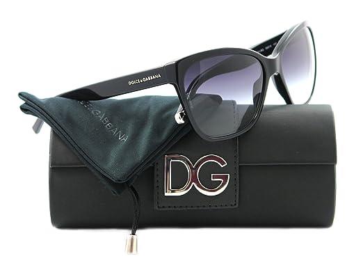 39895225cb3 Dolce   Gabbana Women s 4114 Black Frame Grey Gradient Lens Plastic  Sunglasses