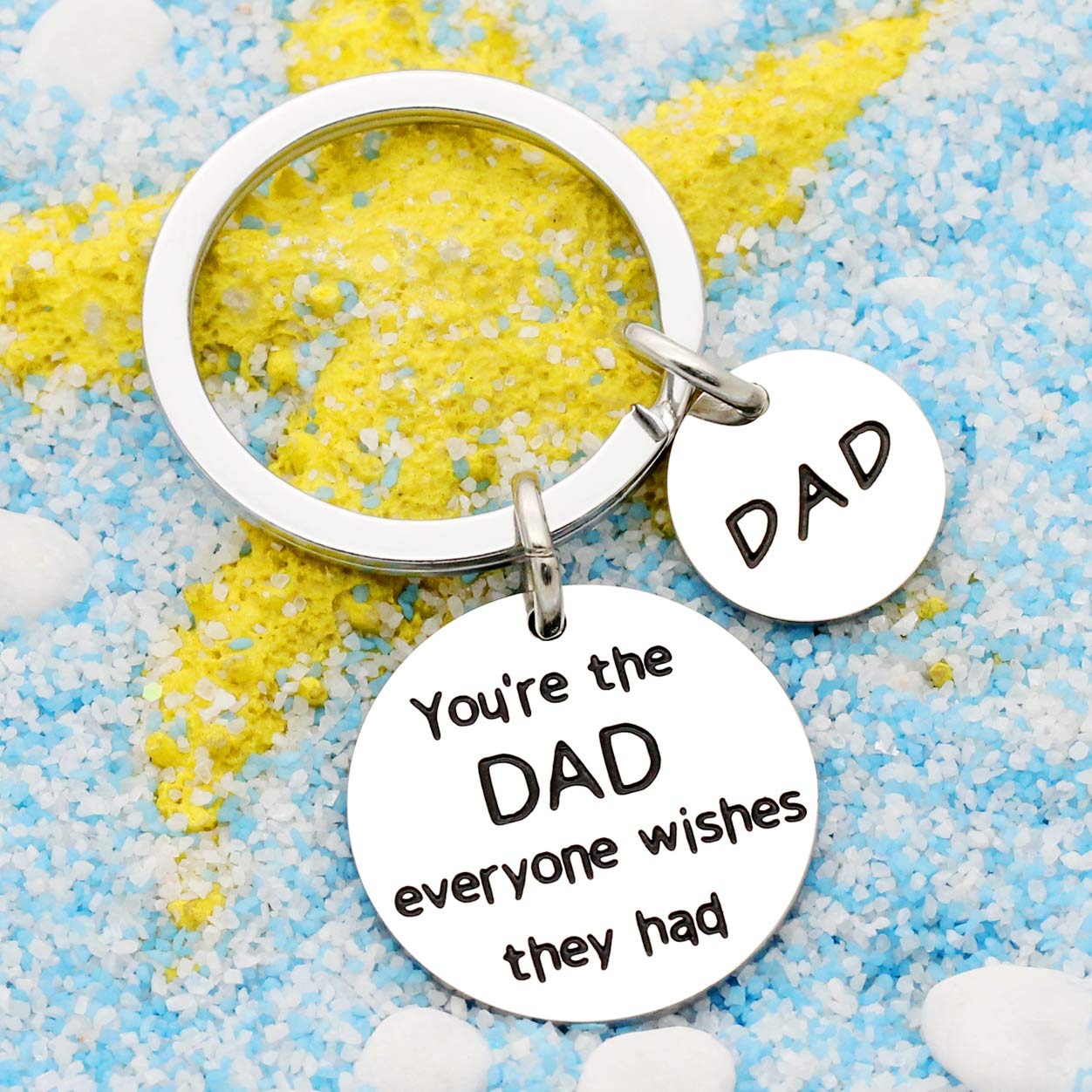 lauhonmin Father Key Chain Men from Daughter Son Youre The Dad Everyone Wishes They Had