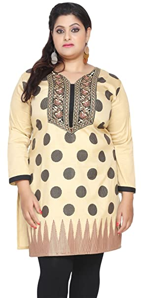 bc9e0b27b69 Maple Clothing Plus Size India Tunic Long Top Kurti Embroidered Womens  Apparel: Amazon.ca: Clothing & Accessories