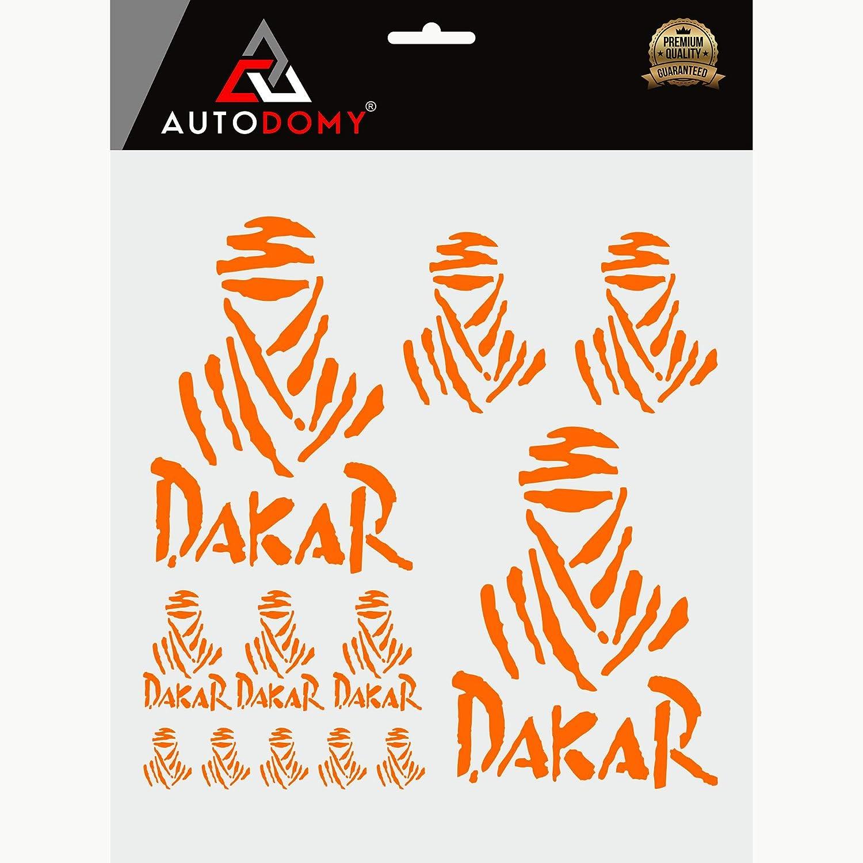 Blu Autodomy Confezione Adesivi Dakar 12 Pezzi per Auto o Moto