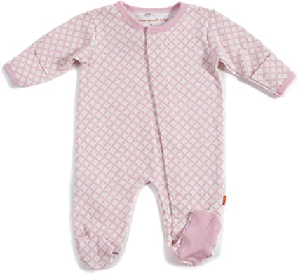 Magnificent Baby Magnetic Fastener Cotton Footie Bedford Floral