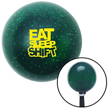 American Shifter 276419 Shift Knob Company Yellow Cancer Blue Metal Flake with M16 x 1.5 Insert