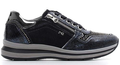 Sneaker NeroGiardini A806572-200 6572 Scarpe Sportive Blu Donna con Cerniera  35 a87877a5244