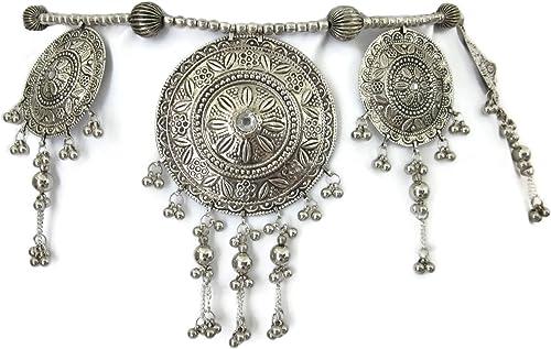 Silver Plated Sequins Waist Women Ethnic Belly Belt Body Chain Tassel Jewelry