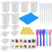 OKAYC Silicone Resin Measuring Cups Tool Kit, 100ml Silicone Measuring Cups, Silicone Mixing Cups, Plastic Transfer…