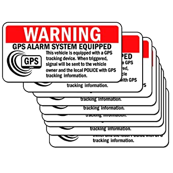 4 x GPS Tracker System Security Window Warning Stickers-Alarm Device Sign-Car