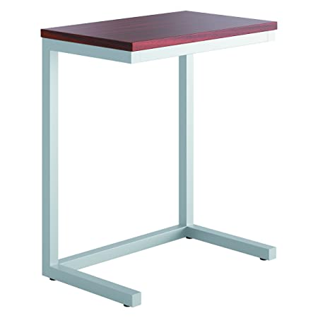 HON HML8858C1 Occasional Cantilever Table 24w x 15d x 20 3 4h Chestnut Silver, Chestnut Silver