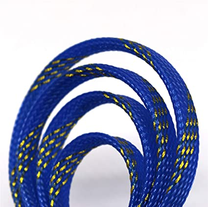 30ft PET Expandable Braided Sleeving Flexo Wire Cable Sleeve 2//5, Blue/&Black