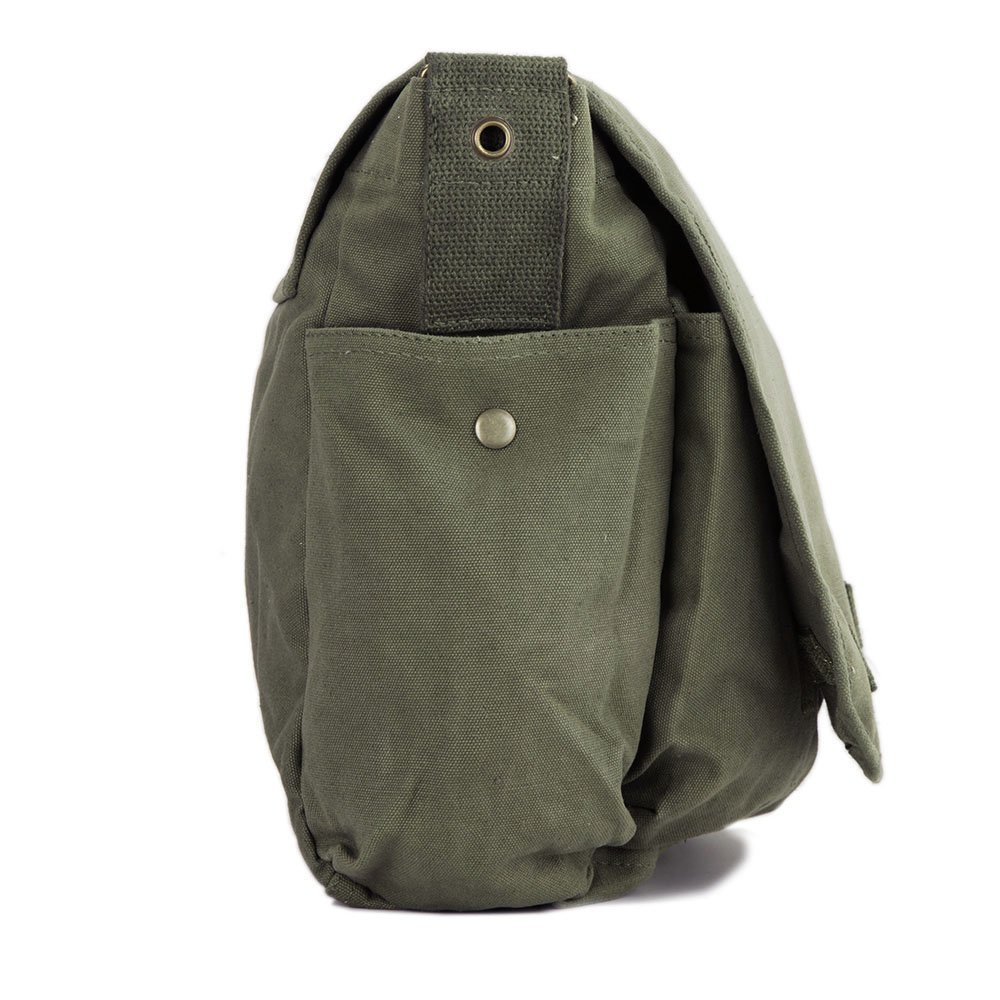 Call of Duty Ghost Skull Logo Army Heavyweight Canvas Messenger Shoulder Bag in Black /& Red
