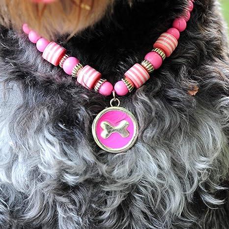 Kongqiabona Collar de Moda para Mascotas, Perro, Gato, Accesorios para Mascotas, Colgante