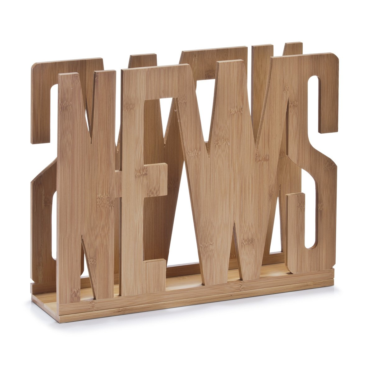 Zeller 13577 Portariviste News in bambù, 42 x 11 x 33 cm