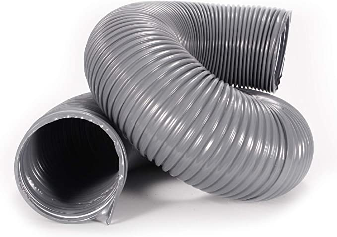 Yardwe Tubo di Sfiato per Essiccatore per Condotti in Alluminio Ad Aria Tubo Flessibile in Argento per Tubi di Aerazione Tubo per Ventilazione per Locali di Essiccazione Linee di