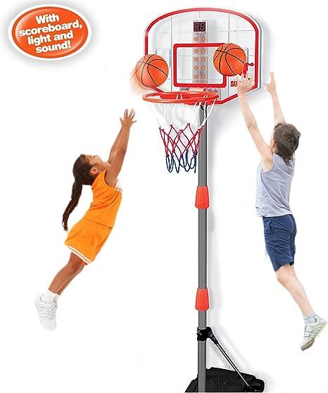 youper Mini ajustable portátil soporte para canasta de baloncesto ...