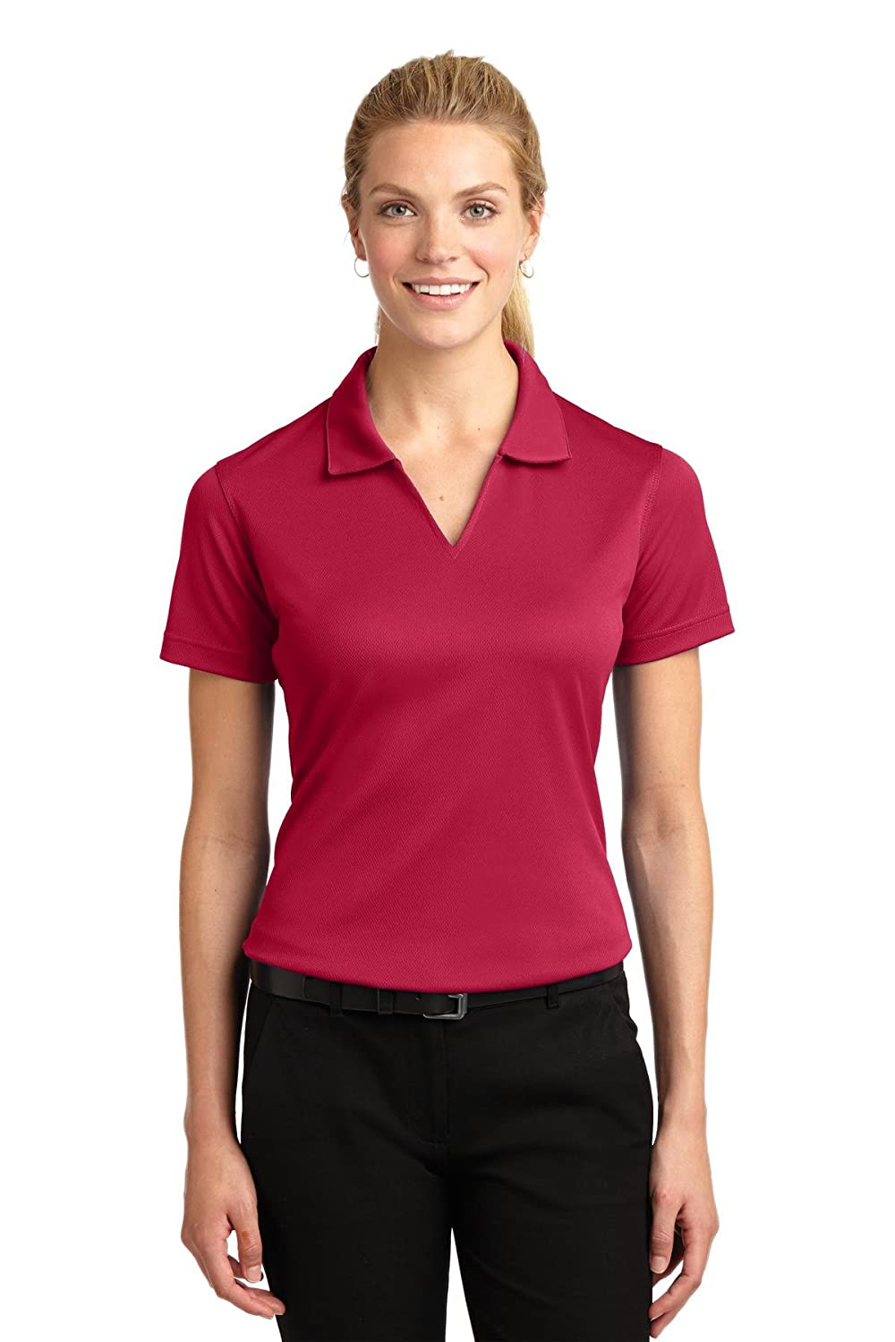 Sport-Tek Women's Dri Mesh V Neck Polo Shirt