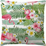 LUOEM Flamingo Überwurf Kissen Kissen quadratisch abdeckt, für Outdoor Sofa im Innenbereich Auto Wohnzimmer Kinderzimmer (45x 45cm)
