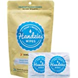 Handzies: Natural Soap and Water Hand Wipes, Individually Packaged, Free of Alcohol, Triclosan and Benzelkonium Chloride, Made with Pure Castile Soap and Essential Oils