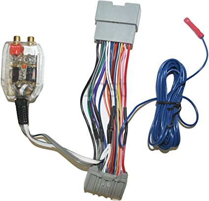 amazon.com: factory radio add a amp amplifier sub interface wire harness  inline converter compatible with honda: car electronics  amazon.com